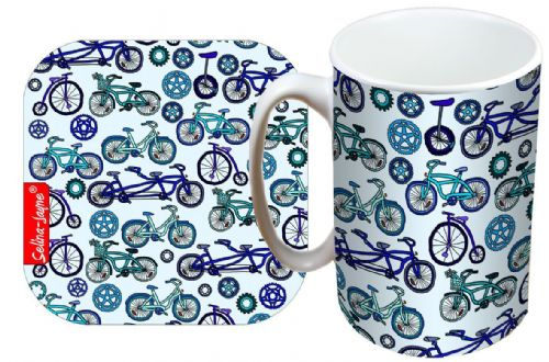 Selina-Jayne Bicycles Limited Edition Designer Mug and Coaster Gift Set